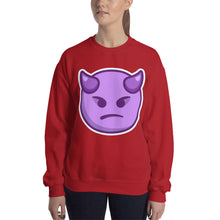 Load image into Gallery viewer, Angry Face with Horns Sweatshirt