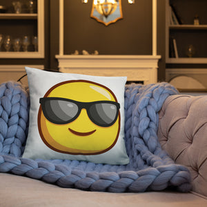 Smiling Face with Sunglases Basic Pillow
