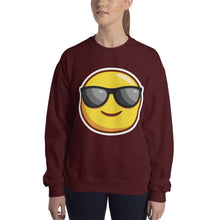 Load image into Gallery viewer, Smiling Face with Sunglasses Sweatshirt