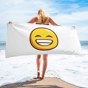 Grinning Face With Smiling Eyes Towel