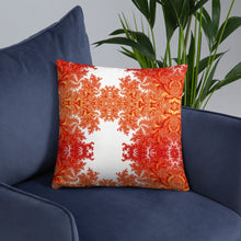 Load image into Gallery viewer, Orange Floral Basic Pillow