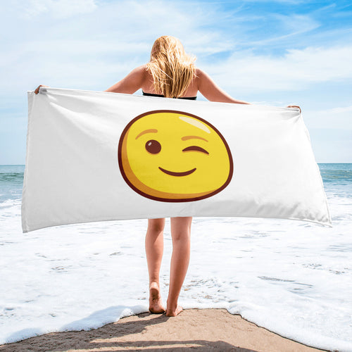 Winking Face Towel