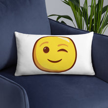 Load image into Gallery viewer, Winking Face Basic Pillow