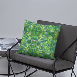 Green Abstract 1 Premium Pillow