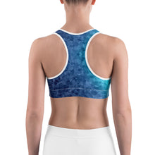 Load image into Gallery viewer, Blue Texture Sports bra