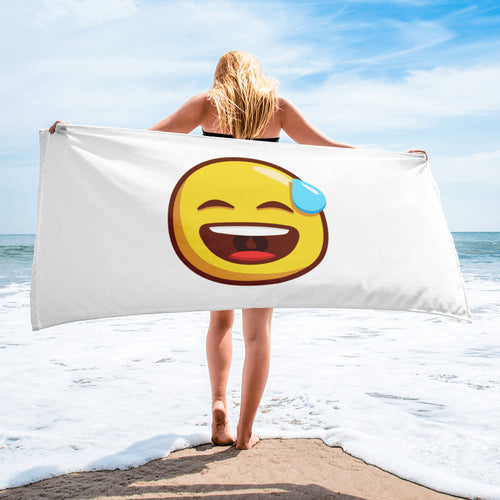 Smiling Face with Open Mouth and Cold Sweat Towel