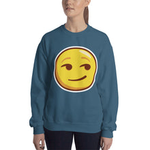 Load image into Gallery viewer, Smirking Face Unisex Sweatshirt