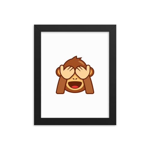 See No Evil Framed poster