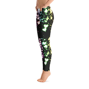 Multi Colored Heart Leggings