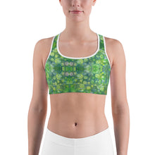 Load image into Gallery viewer, Green Abstract 1 Sports bra