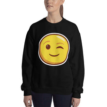 Load image into Gallery viewer, Winking Face Unisex Sweatshirt