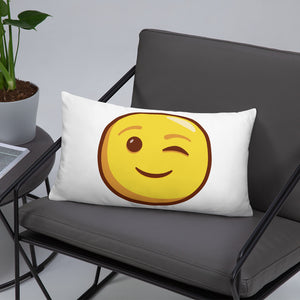 Winking Face Basic Pillow