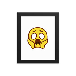 Scared Face Framed poster