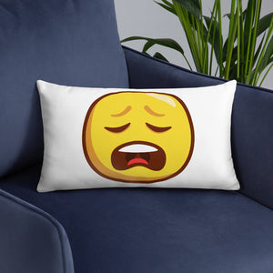 Weary Face Basic Pillow