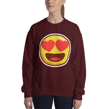 Load image into Gallery viewer, Heart Eyes Unisex Sweatshirt