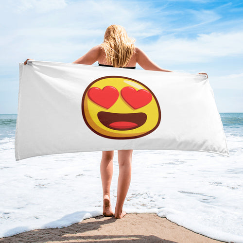 Heart Shaped Eyes Towel