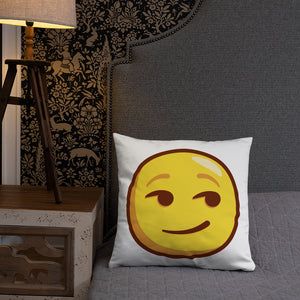Smirking Face Basic Pillow