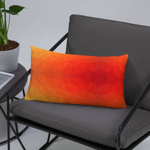 Orange Geometry Basic Pillow