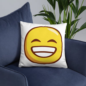 Grinning Face with Smiling Eyes Basic Pillow
