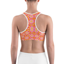 Load image into Gallery viewer, Abstract Flower 1  Sports bra