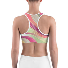 Load image into Gallery viewer, Abstract Swirl Sports bra
