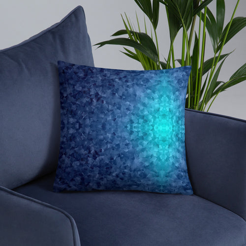 Blue Texture Basic Pillow