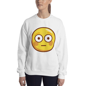 Flushed Face Unisex Sweatshirt