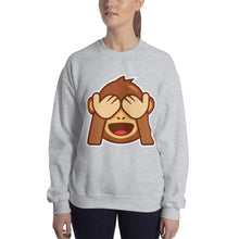 Load image into Gallery viewer, See  No Evil Monkey Unisex Sweatshirt