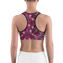 Load image into Gallery viewer, Pink Cube Abstract Sports bra