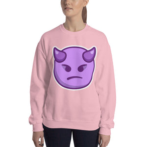 Angry Face with Horns Sweatshirt