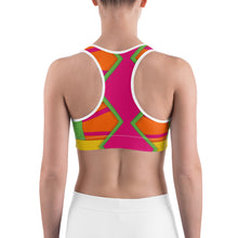 Load image into Gallery viewer, Color Pattern 1 Sports bra