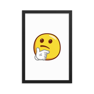 Thinking Face Framed poster