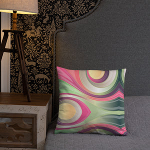 Abstract Swirl Basic Pillow