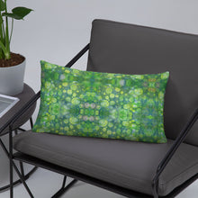Load image into Gallery viewer, Green Abstract 1 Premium Pillow