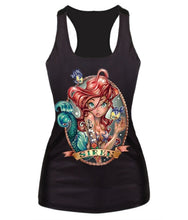Load image into Gallery viewer, 3D The Little Mermaid Ariel Sailor Moon Cartoon print Tank Top