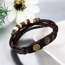Load image into Gallery viewer, 2Pcs Hot Lovers Ying Yang Leather Bracelet Charm
