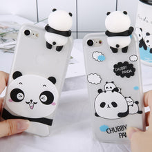 Load image into Gallery viewer, 3D Cartoon Panda Case For iPhone