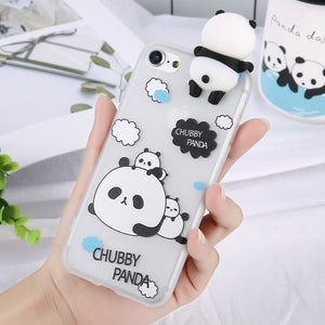 3D Cartoon Panda Case For iPhone