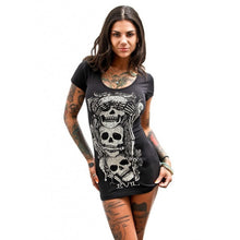 Load image into Gallery viewer, Skull Printed Summer Crop Tshirt