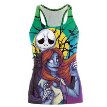 Load image into Gallery viewer, 3D Dark Sugar Jack Skellington Sexy Top Tees