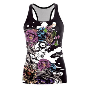 3D Dark Sugar Jack Skellington Sexy Top Tees