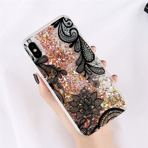Glitter Bottle Quicksand Dynamic Phone Case For iPhone