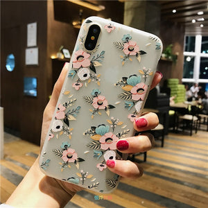 3D Relief Peach Blossom Flower Case For iPhone