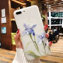 Load image into Gallery viewer, 3D Relief Peach Blossom Flower Case For iPhone