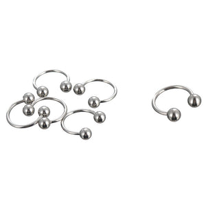 66Pcs Multi-type Stainless Steel Curved Eyebrow Nose Lip Earrings Nipple Piercings