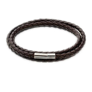 Men Fashion Leather Round Rope Bracelets