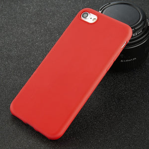 Standard Phone Case For iPhone Simple Solid Color