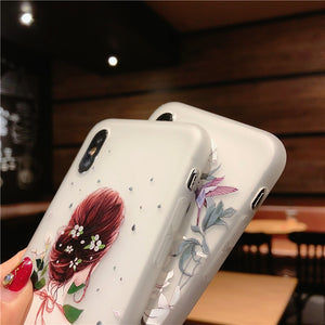 3D Flower Phone Case For iPhone