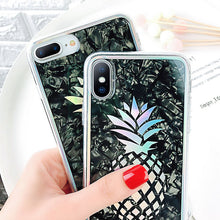 Load image into Gallery viewer, Glitter Laser Pineapple Back Cover For iPhone