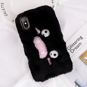 Cartoon Paw Furry Case For iPhone